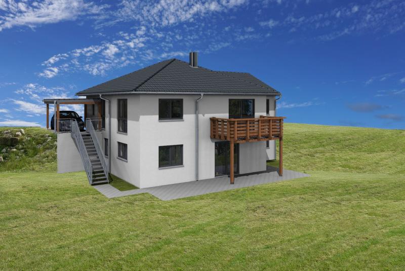 Neubau eines Hanghauses in Holzbauweise