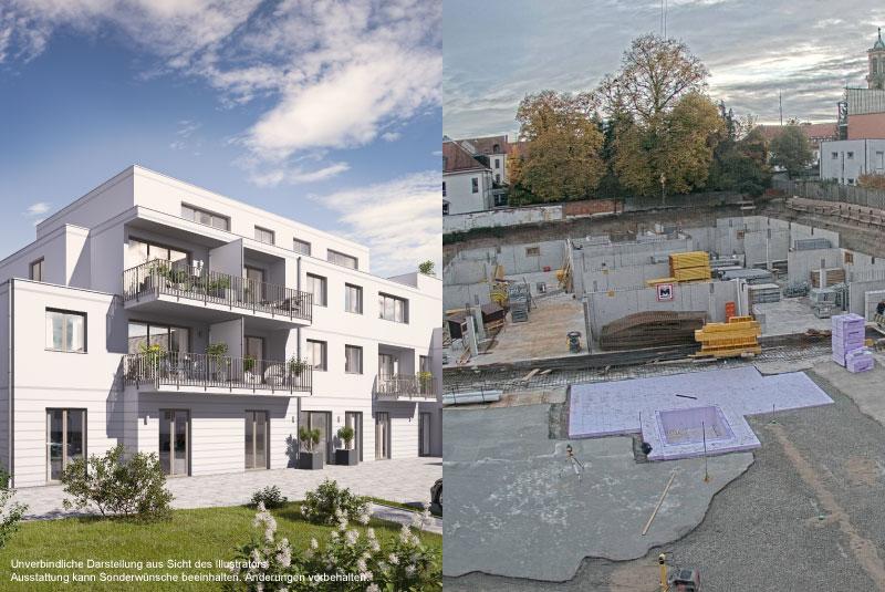 Baufortschritt Ansbach SUITES Tiefgarage Alte Poststraße