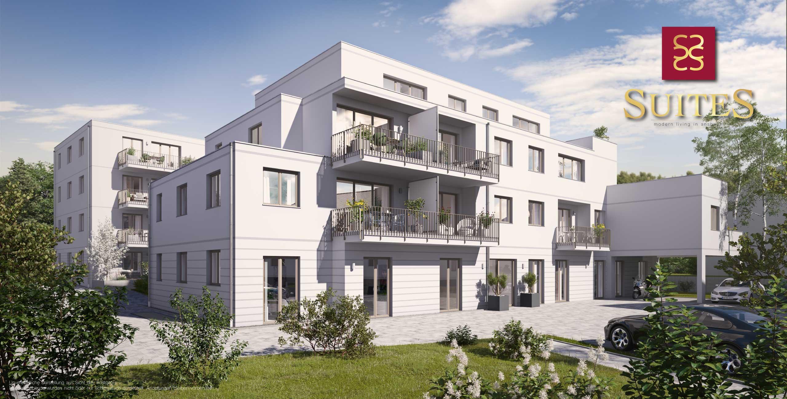 Ansbach SUITES Alte Poststraße Neubau Eigentumswohnungen Wattenbachareal