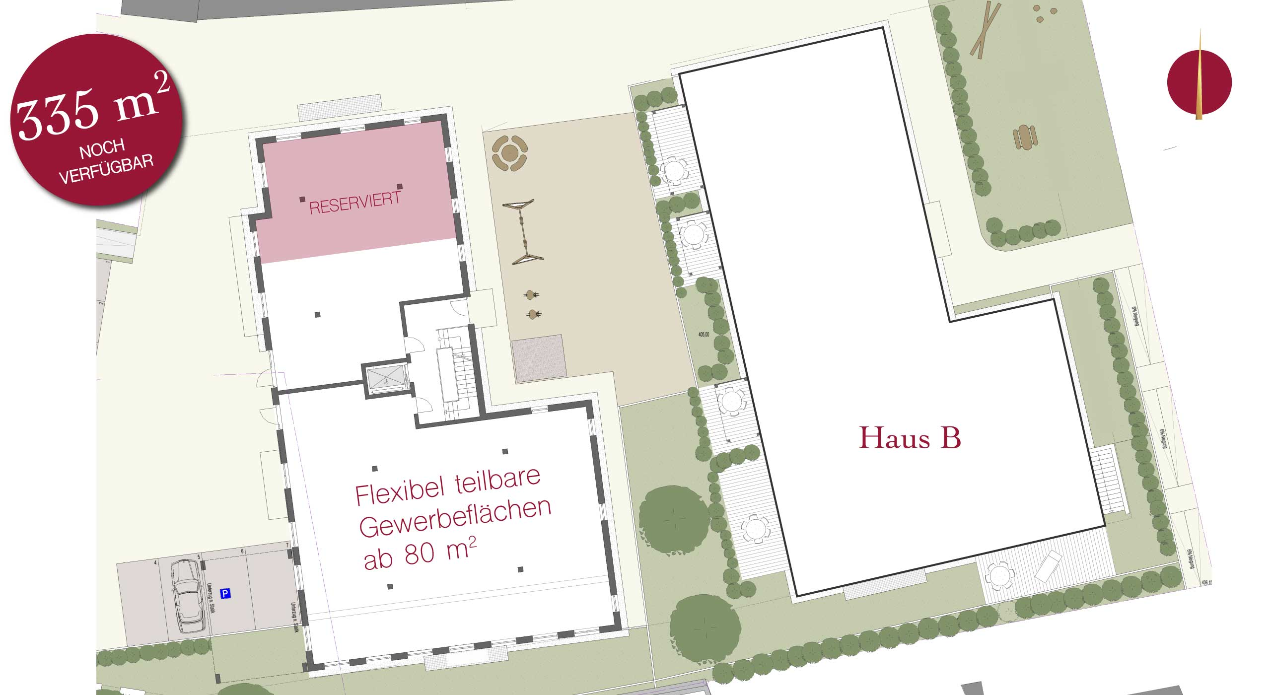 Neubau Gewerbeobjekt Alte Poststrasse Ansbach SUITES Ladenfläche Ladengeschäft Geschäftsräume