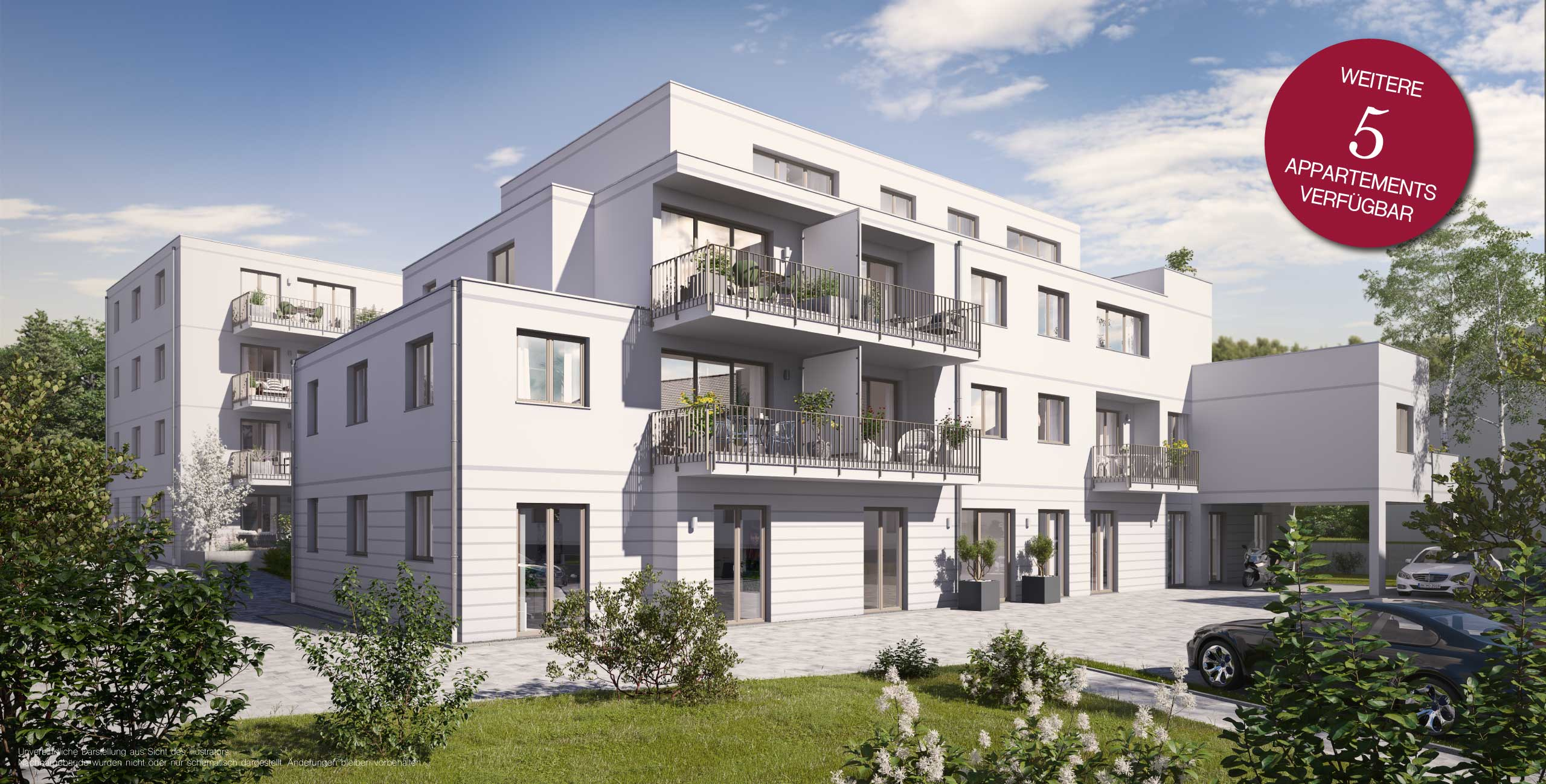 Verkaufsstart Ankündigung SUITES Appartements
